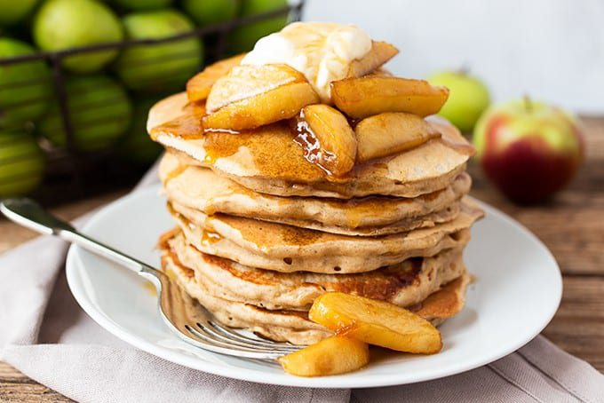 Apple Pancakes with Maple Apple Sauce